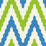 Pattern with zig zag in blue and green colors. Seamless geometric pattern with colorful zig zag in blue and green colors Stock Photography