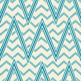 Pattern in zig zag. Classic chevron seamless pattern. Stock Photography