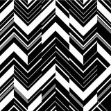 Pattern in zigzag - black and white Stock Photos