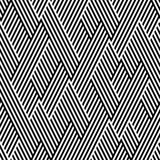 Pattern in zigzag with line black and white Stock Photo