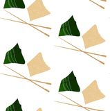 Pattern with zongzi and hasi Royalty Free Stock Photo