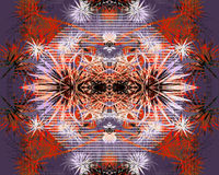 Patternale. Digital image manipulation using my own photos and ial patterns vector illustration