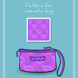 PatternCosmeticBag Stock Photography