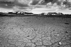 Patternd ground with polygons in beautiful primordial icelandic highland. Iceland Stock Photo