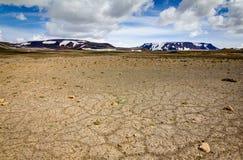 Patterndgrond met veelhoeken in mooi fundamenteel Ijslands hoogland ijsland royalty-vrije stock afbeelding