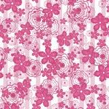 Patterne inconsútil floral, fondo lindo de las flores de la historieta Fotografía de archivo