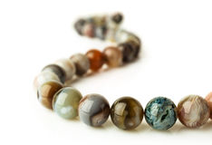 Patterned agate beads Royalty Free Stock Image