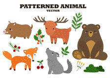 Patterned Animal Vector Royalty Free Stock Image
