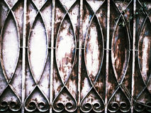 Patterned antique iron fence Stock Photography