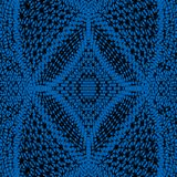 Patterned background in blue on black Stock Images