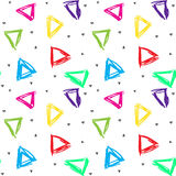 Patterned background of colored triangles Stock Image