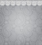 Patterned background with lace Stock Photography