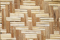Patterned Bamboo Panel Stock Photo