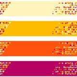 Patterned banner background with small spots Royalty Free Stock Photography