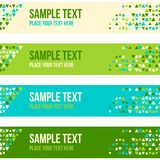 Patterned banner background with small spots Royalty Free Stock Images