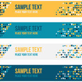 Patterned banners backgrounds with small spots Stock Photography