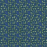 Patterned blue fabric Royalty Free Stock Image