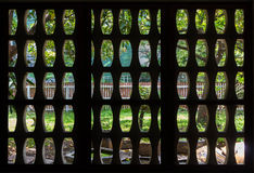 Patterned brick block. Pattern brick block. mosquito wire screen Royalty Free Stock Photos
