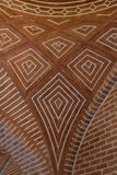 Patterned brick ceiling Royalty Free Stock Photography