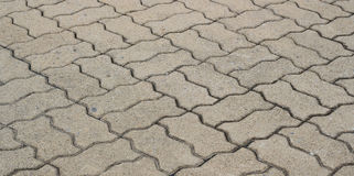 Patterned brick walkway cement Royalty Free Stock Images