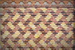 Patterned Brick Wall Texture Stock Images