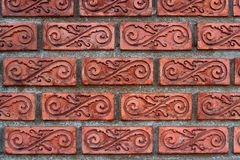 Patterned brick walls and varnish Royalty Free Stock Photos