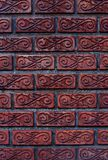 Patterned brick walls and varnish  In Bangkok, Thailand Stock Photo