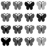 Patterned butterflies set Stock Photography