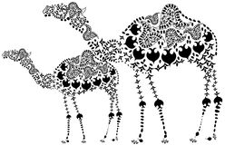 Patterned camel Stock Photo