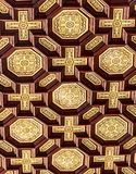Patterned ceiling of the arcades at Spain Square. Seville, Spain - Dec 2018: Patterned ceiling of the arcades at Spain Square stock photos