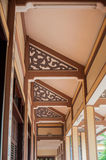 Patterned ceiling of a Buddhist temple. Asian background concept stock photography