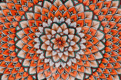 Patterned ceramic. Painted patterned ceramic with hypnotic pattern Stock Photography