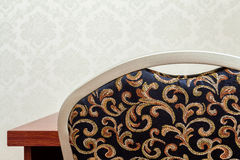 Patterned chair back Royalty Free Stock Image