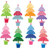 Patterned Christmas Trees. A Vector Illustration of Patterned Christmas Trees Royalty Free Stock Photo