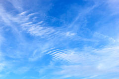 Patterned Cloudscape. White clouds making pattern in blue sky Royalty Free Stock Photography
