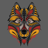 Patterned colored head of the owl. African / indian / totem / tattoo design. It may be used for design of a t-shirt, bag, postcard Stock Photo