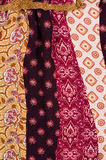 Patterned cotton fabric background Royalty Free Stock Photography