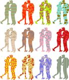 Patterned couple Stock Photo