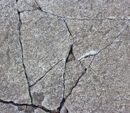 Patterned crack concrete. Royalty Free Stock Photography