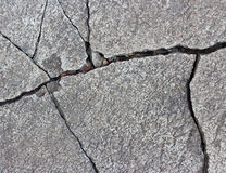 Patterned crack concrete. Stock Photo