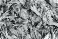 Patterned crumpled fabric texture background. Stock Photography