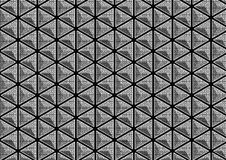 Patterned 3D triangle stock photo