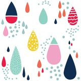 Patterned droplet repeat pattern. Patterned and textured droplet repeat patterns with colours Royalty Free Stock Photos