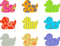 Patterned ducks Royalty Free Stock Photo