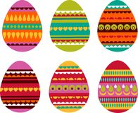 Patterned Easter eggs Stock Image