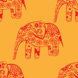 Patterned elephants Stock Images