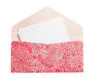 Patterned envelope Royalty Free Stock Images