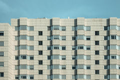 Patterned exterior of block of flat facade Royalty Free Stock Images