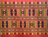 Patterned fabric of Thailand Royalty Free Stock Photo
