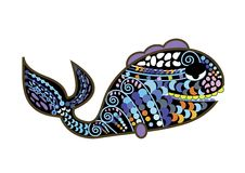 Patterned fish Royalty Free Stock Image